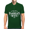 You Can't Scare Me Farmer's Wife Mens Polo