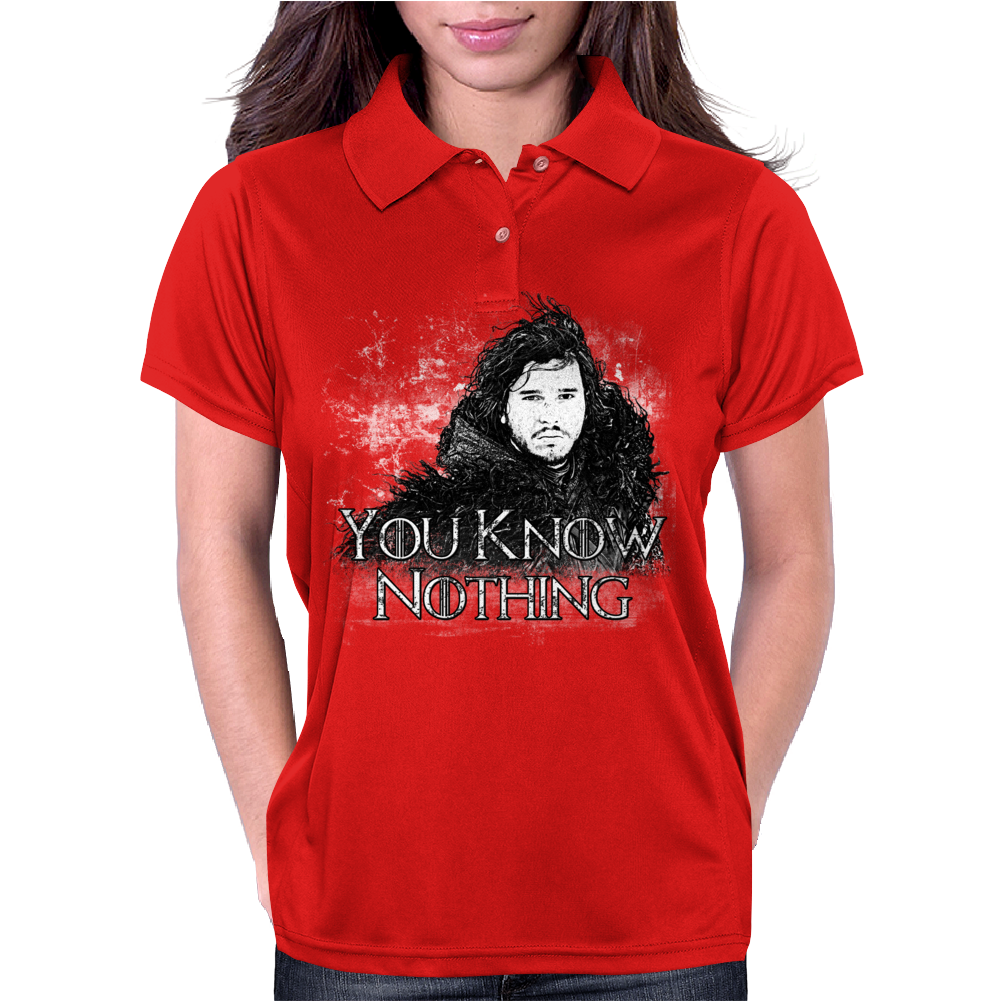 You Know Nothing Womens Polo