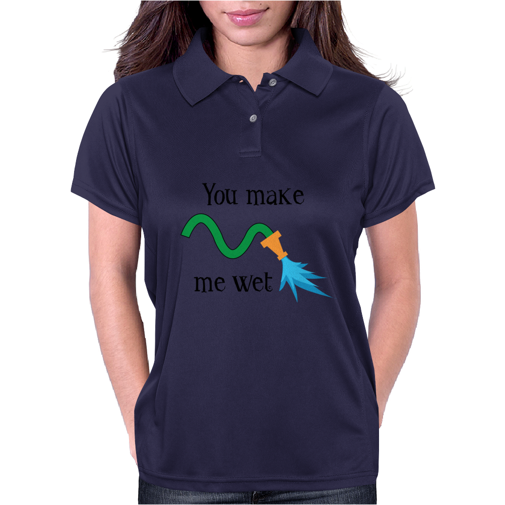 You make me wet Womens Polo