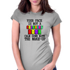 YOUR FACE IS NOT A COLORING BOOK Womens Fitted T-Shirt
