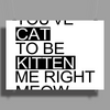 You've Cat To Be Kitten Me Right Meow Poster Print (Landscape)