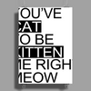 You've Cat To Be Kitten Me Right Meow Poster Print (Portrait)