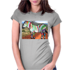 Zebra of Color Womens Fitted T-Shirt