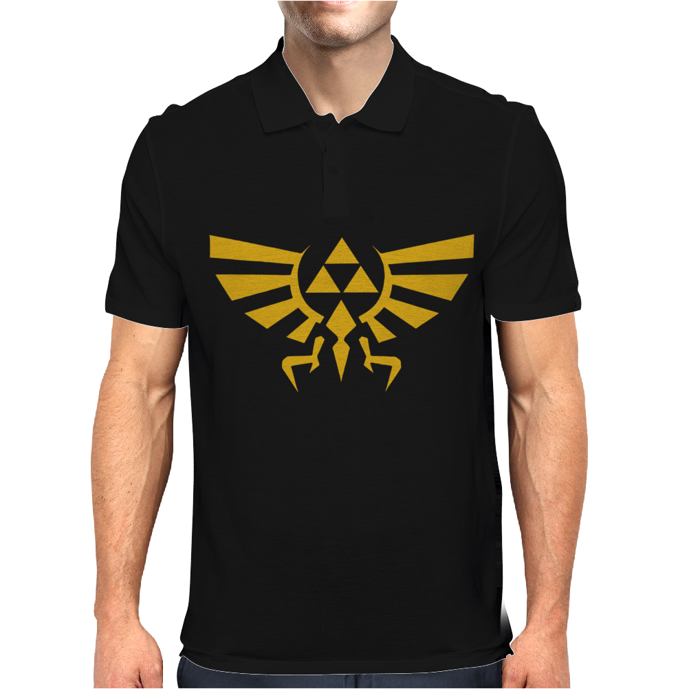 Zelda Hyrule Royal Crest Tee Triforce T Game Mens Polo