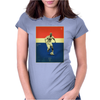 Zinedine Zidane (France) Vintage Poster Womens Fitted T-Shirt