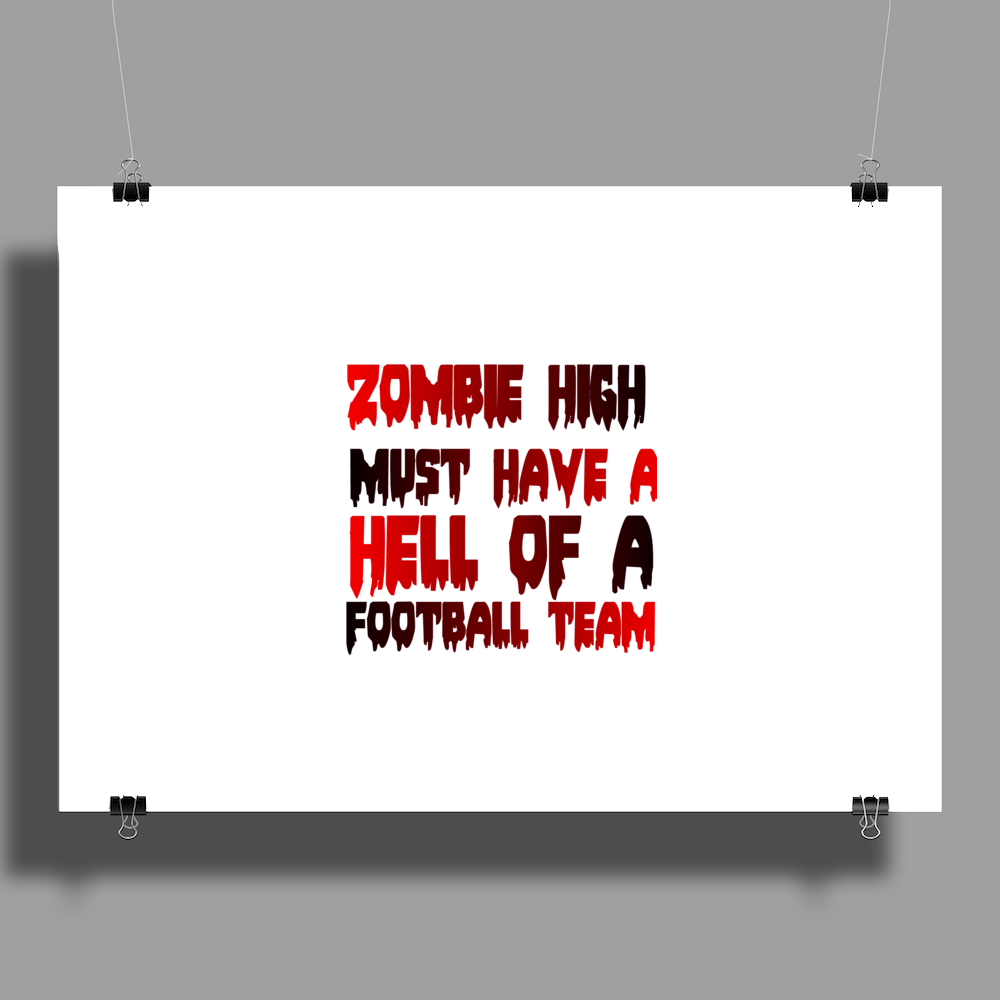 zobie high football team Poster Print (Landscape)