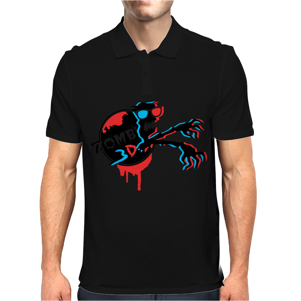 Zombie 3d Glass Mens Polo