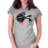 Zombie 3d Glass Womens Fitted T-Shirt