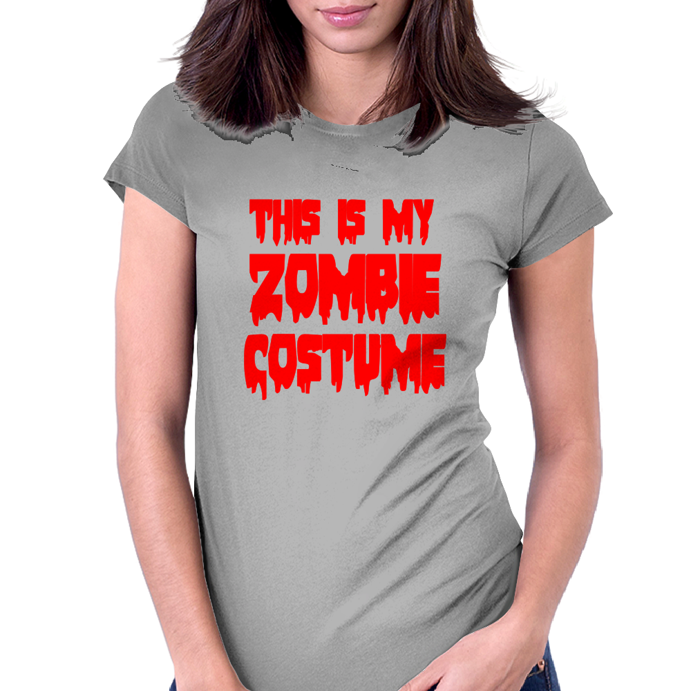 ZOMBIE COSTUME Womens Fitted T-Shirt