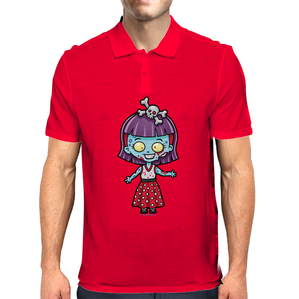 Zombie Girl by Yobeeno.com Mens Polo
