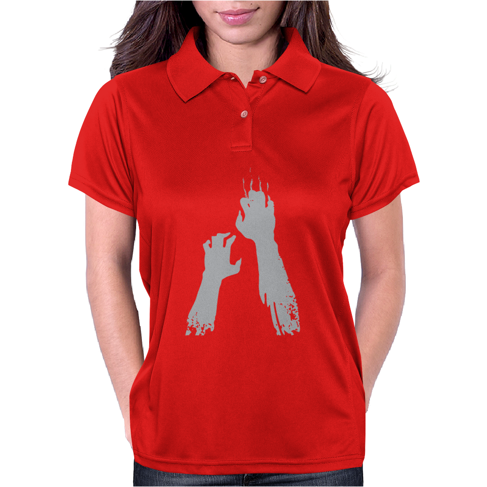 Zombie Hands Womens Polo