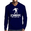 Zombie Only Want a Hug Mens Hoodie