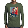 Zombie Poster, Ideal Birthday Gift Or Present Mens Long Sleeve T-Shirt