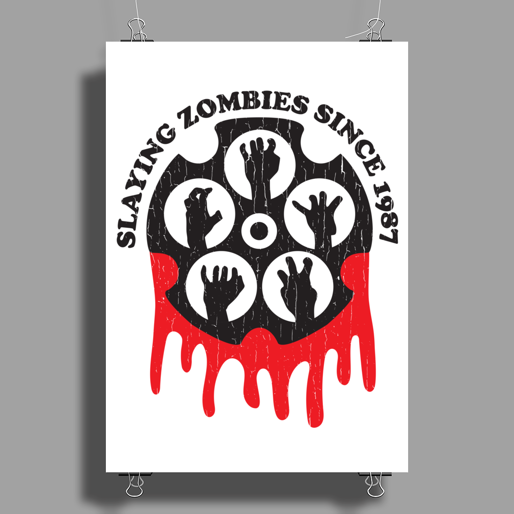 Zombie Slayer Poster Print (Portrait)