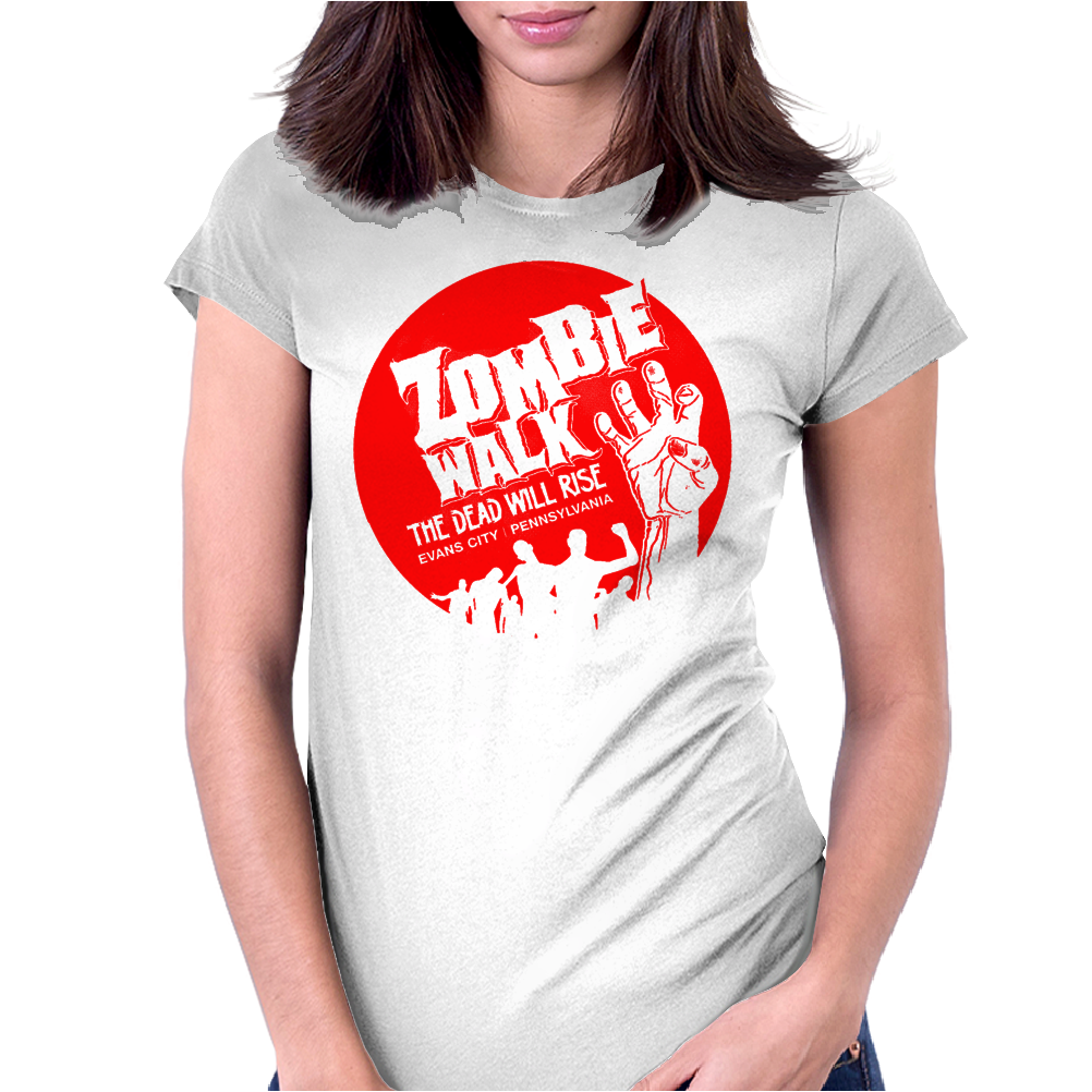 Zombie-Walk Womens Fitted T-Shirt