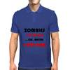 ZOMBIES BE TRIPPIN Mens Polo
