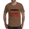ZOMBIES BE TRIPPIN Mens T-Shirt