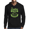 Zombies eat Brains you are safe! Mens Hoodie