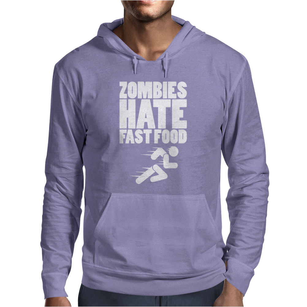 Zombies Hate Fast Food Mens Hoodie