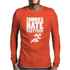 Zombies Hate Fast Food Mens Long Sleeve T-Shirt