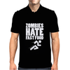Zombies Hate Fast Food Mens Polo