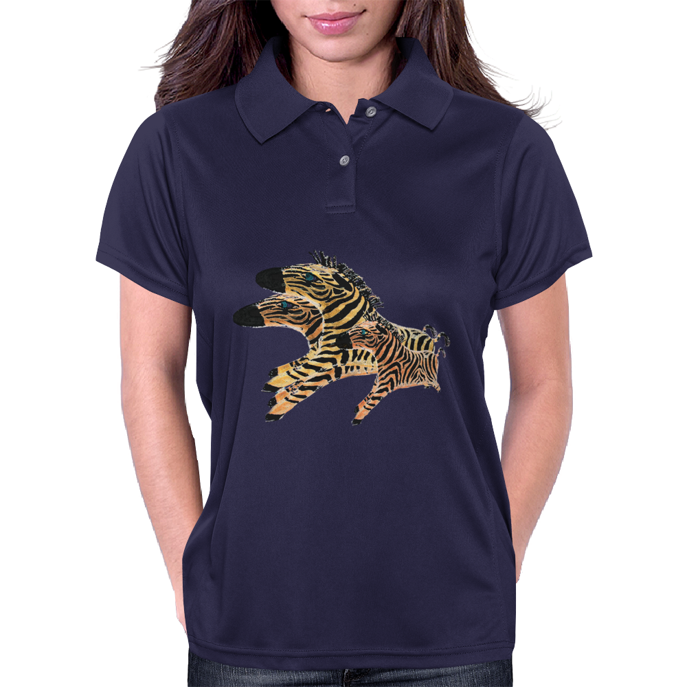Zoomie Zebra Womens Polo
