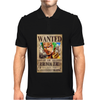 Zoro Wanted One Piece Rubber Cartoon Manga Mens Polo