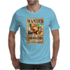 Zoro Wanted One Piece Rubber Cartoon Manga Mens T-Shirt