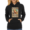 Zoro Wanted One Piece Rubber Cartoon Manga Womens Hoodie