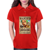 Zoro Wanted One Piece Rubber Cartoon Manga Womens Polo