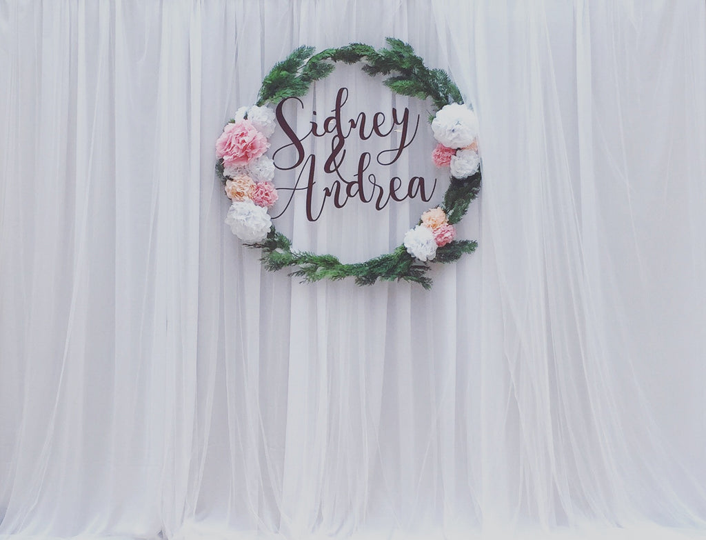 Fabric Backdrop with Customized Logo