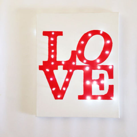LOVE lighted canvas