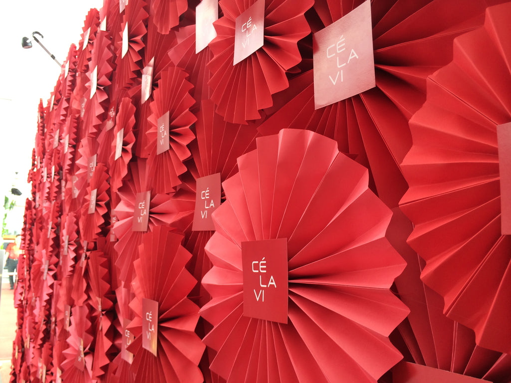 Paper Flower Backdrop - Paper Fan