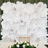 Paper Flower Backdrop - Elegant White