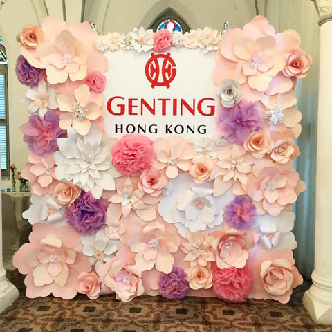 Paper Flower Backdrop - Garden Party 2
