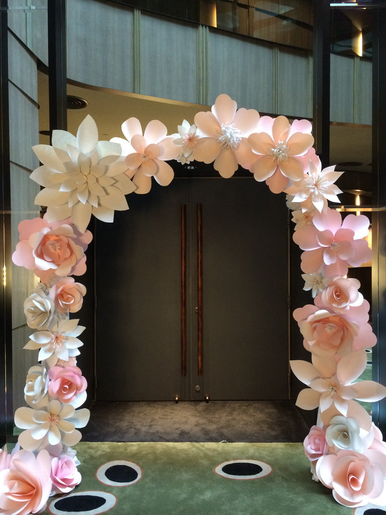 Paper Flower Arch Mixed Flowers For The Wedding Singapore