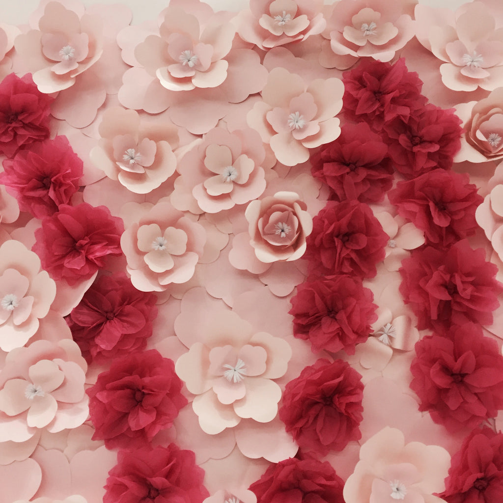 Paper Flower Backdrop - Fashion Runway with Customized Alphabets
