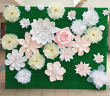 Paper Flower Backdrop - Garden Bloom