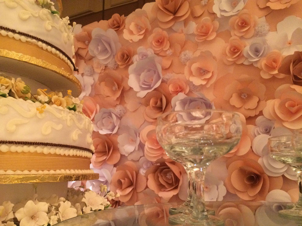 Paper Flower Backdrop For The Wedding Singapore