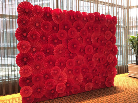 Paper Flower Backdrops For The Wedding Singapore