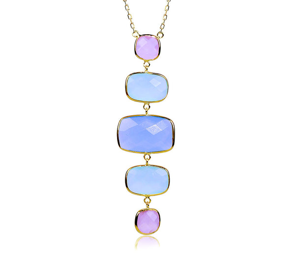 5 Multi-Color Chalcedony Necklace
