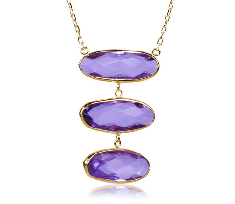 Amethyst Triple Necklace