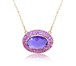 Amethyst & Pink Sapphire Necklace