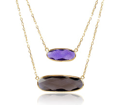 Amethyst & Smoky Quartz Necklace