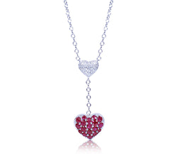 Diamond & Ruby Heart Necklace