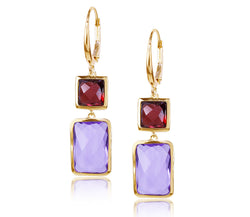 Garnet & Amethyst Earrings
