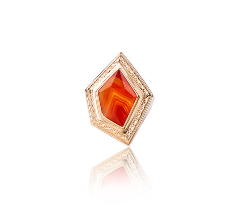 Euclid Red Lace Agate Ring