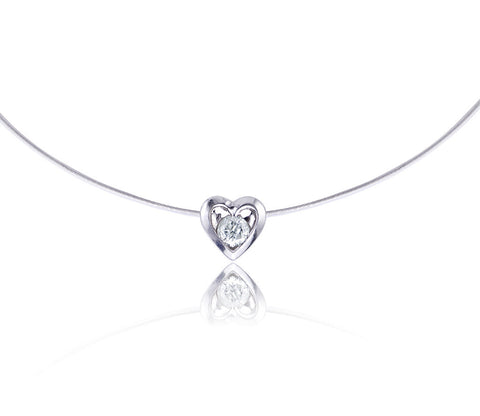Diamond Heart Slide Pendant