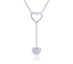Double Diamond Heart Necklace