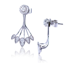 Front / Back Diamond Earring